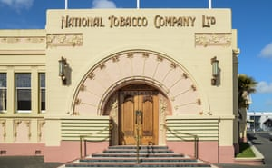 Concrete structures, such as Napier's National Tobacco Company building, tend to stand up firmly under pressure.