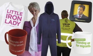 A tempting selection of the election merchandise on offer from the main political parties