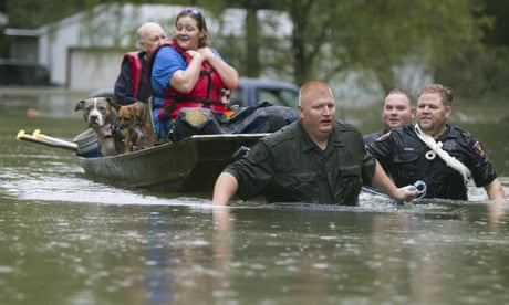 Storm Imelda lashes Texas with 'life-threatening' amounts of rainfall – video