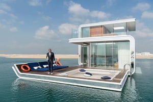 The Floating Seahorse is an underwater holiday villa at the Heart of Europe, a man-made archipelago 2.5 miles off Dubai.