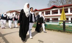 School girls in Kashmir.