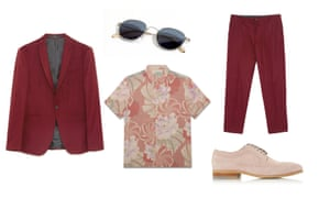 Jacket, £59.99, trousers, £29.99 both zara.com, Shirt, £xx, allSaints.com, shoes, £50 (was £100) dunelindon.com, sunglasses, £135, jigsaw-online.com