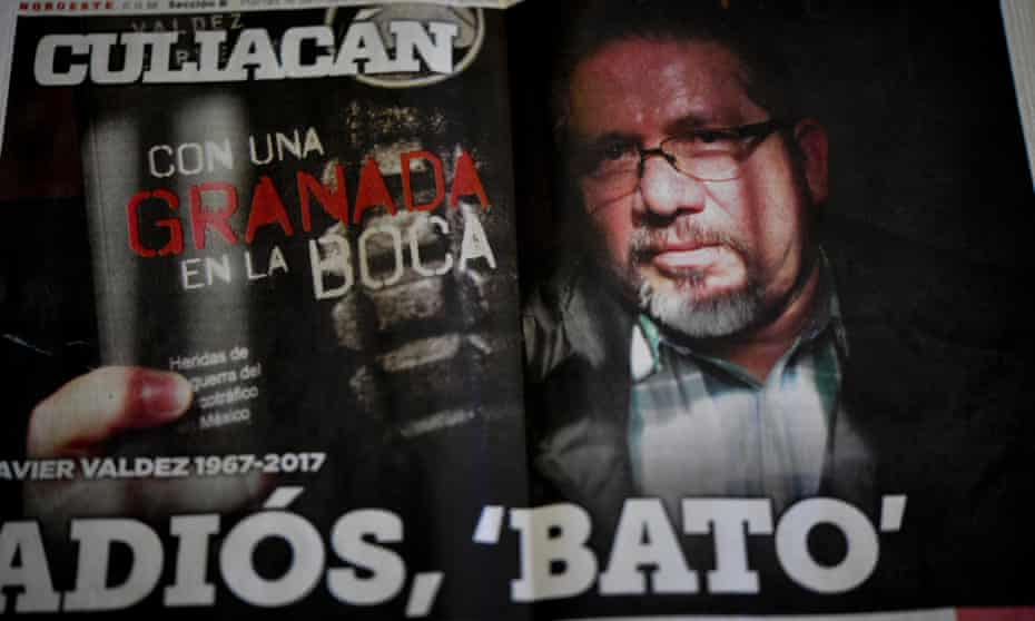 The front page of a newspaper dedicated to murdered Mexican journalist Javier Valdez