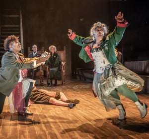 Ashley D Gayle (left) and Alison Halstead (right) perform the play within the play.