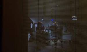 A neonatal nurse providing care