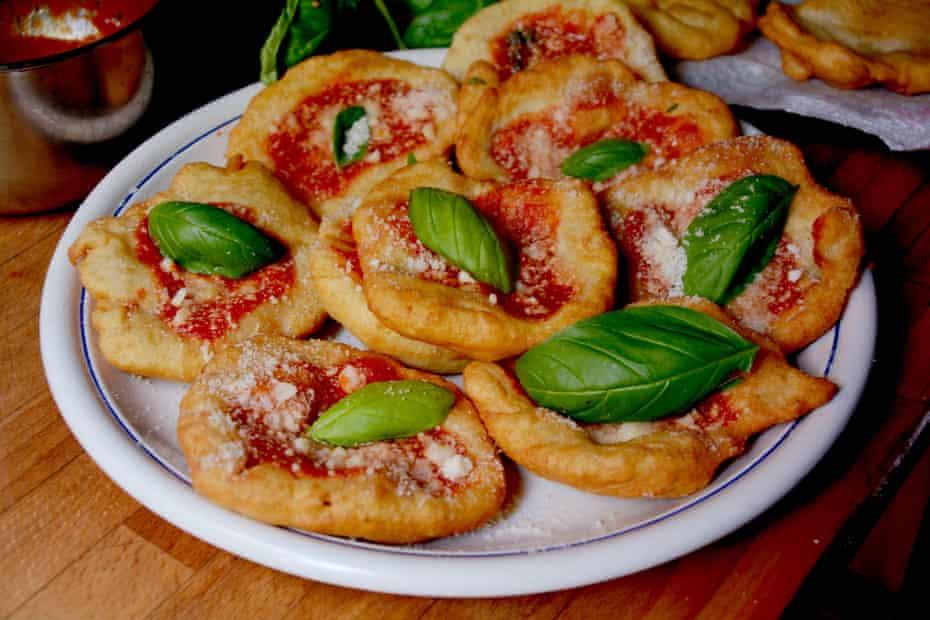 Rachel Roddy's pizzette fritte – fried mini pizzas.