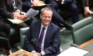 Opposition leader Bill Shorten during question time yesterday.