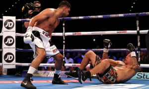 Amir Khan and Samuel Vargas during their welterweight contest