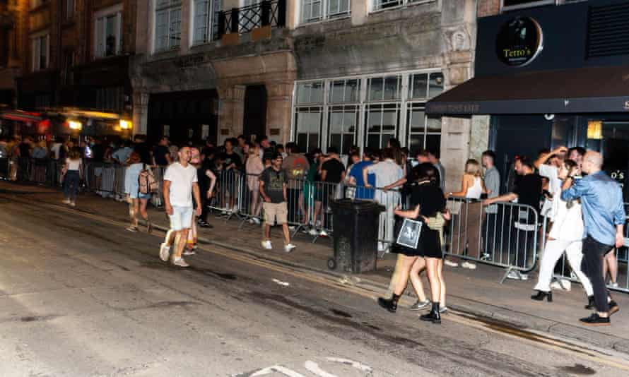 The queue for Fabric's reopening on Sunday evening stretched down the street.