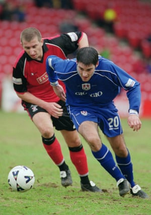 Sadlier (right) in action for Millwall against Walsall in 2001.
