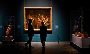 Visitors at the Metropolitan Museum in New York.