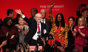 Jeremy Corbyn following his keynote speech during Labour conference in September.