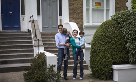 Ed Miliband with his wife, Justine, and their two children.