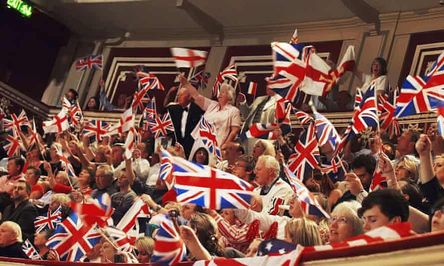 Flags are waved during the closing moments of the Last Night of the Proms at the Royal Albert Hall in London.