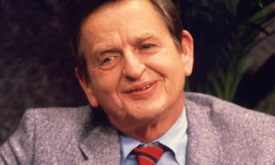 Olof Palme pictured in Stockholm in 1985