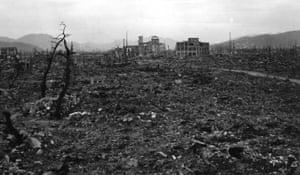 Hiroshima after the atomic bomb.
