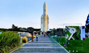 The City of Space, model of the Ariane 5 rocket.