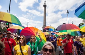 The Pride London parade in 2015.