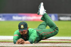Tamim takes the catch to dismiss West Indies' Shimron Hetmyer.