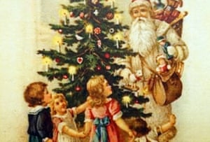 Edwardian Christmas card, circa 1910. Image shot 1910. Exact date unknown.G1DA1M Edwardian Christmas card, circa 1910. Image shot 1910. Exact date unknown.