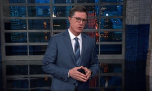 'Yes, when the Attorney General lies to Congress, it is a crime. When the president does it, it's the State of the Union' ... Stephen Colbert