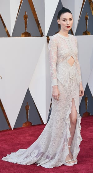 """Rooney Mara. Mara is staying on brand by doing a kind of """"ghost bride"""" by Givenchy. But will the look come back to haunt her?"""