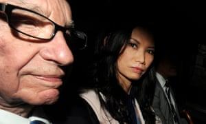 Rupert Murdoch with Wendi Deng in 2012.
