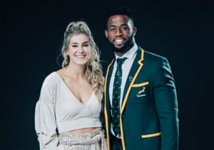 Springbok captain Siya Kolisi and his wife Rachel, who have launched the Kolisi Foundation to assist communities in South Africa hit by Covid-19.