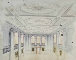 Victoria Regina – colonnaded hall design
