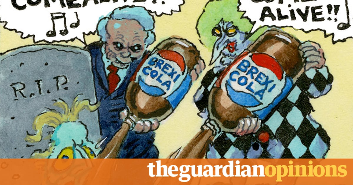 Steve Bell's If ... Theresa May revives the Brexit generation