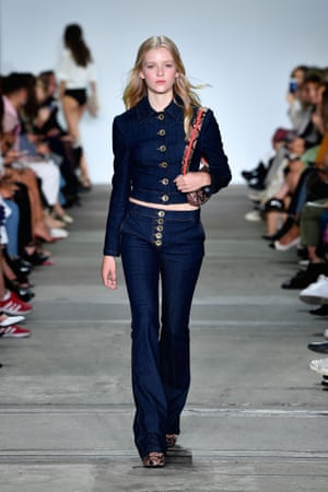 Double the wears with a double-denim ensemble, like this 70s-inspired look from Hansen & Gretel