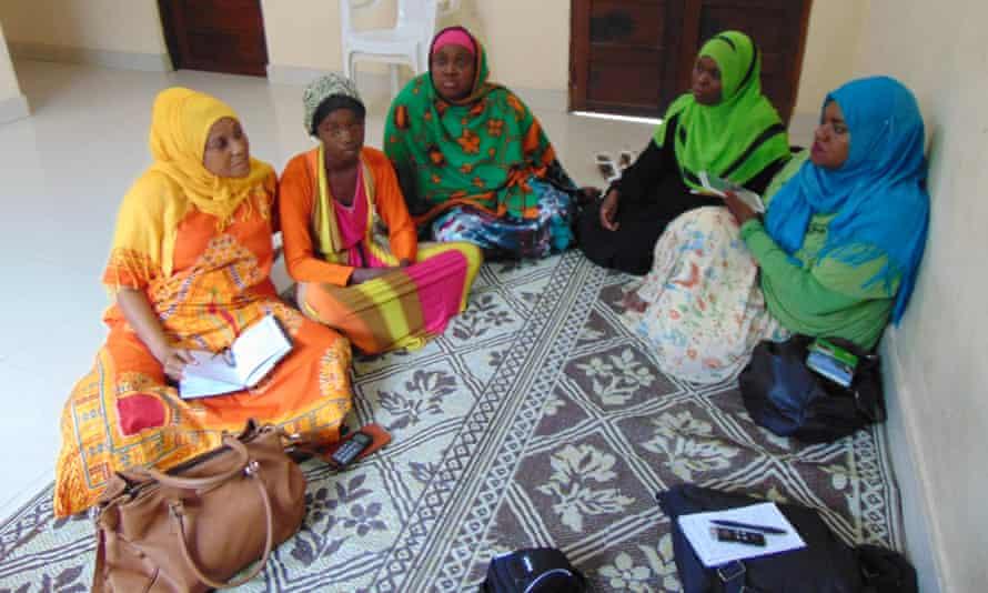 Girls and women at a trafficking shelter in Zanzibar