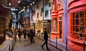 Interior scenes at Diagon Alley at the Harry Potter World Warner Bros Studio Tour Leavesden Watford London UK