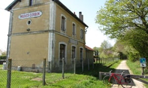A former railway station on cycle path between Illiers-Combray and Alençon.