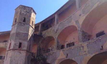 The former prison on Santo Stefano.