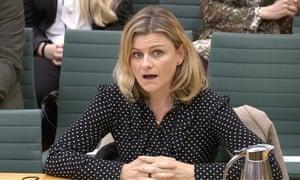 Zelda Perkins speaking to MPs