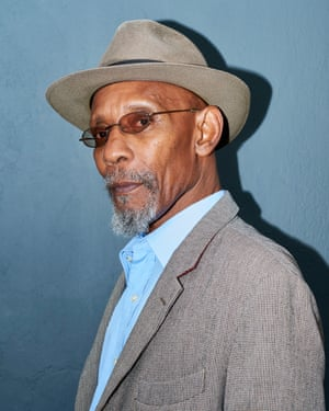 Poet Linton Kwesi Johnson, photographed in Herne Hill, south London.
