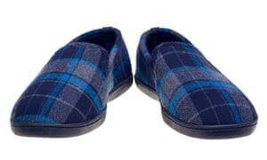 Blue tartan slippers