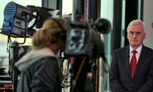 John McDonnell being interviewed at the Labour conference.