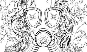 'Not for the faint of heart' ... a colouring-in page from Chuck Palahniuk's Bait.