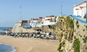 Part of the shoreline at Ericeira, Portugal.