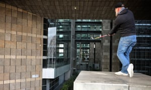 Players compete in the World Urban Golf Cup in Paris in September.
