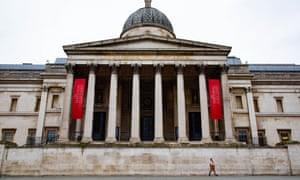 The National Gallery in London during the lockdown