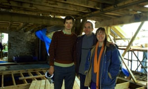 Grand Designs presenter Kevin McCloud and a barn conversion featured on the show.
