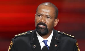 David Clarke spoke at the Republican national convention in 2016.