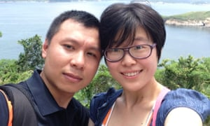 Activist Zhao Wei and her husband, You Minglei.