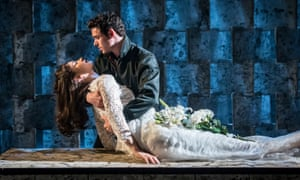 Lily James and Richard Madden in Romeo and Juliet at the Garrick theatre, London