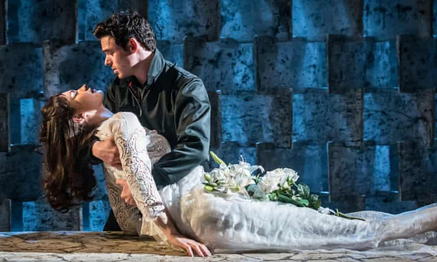 Actors Lily James and Richard Madden in  Romeo And Juliet in 2016