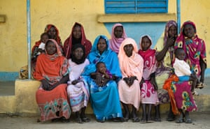 Refugees from Tenbeba village at Treguine refugee camp in eastern Chad