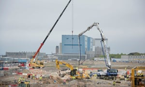 Construction work at the Hinkley C nuclear power plant site in Somerset